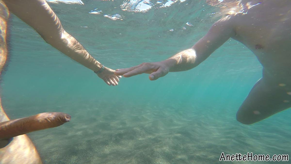 undervands video jeg møder en pik